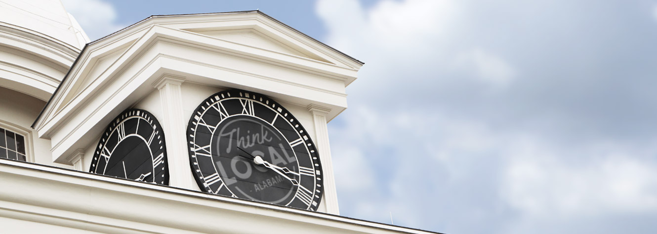 close-up photo of a clock tower