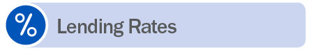 Lending Rates Icon with percentage sign